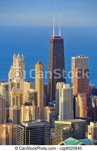 Chicago aerial view - csp8020840