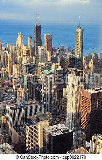 Chicago aerial view - csp8022170