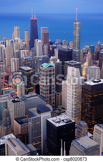 Chicago aerial view - csp8020873