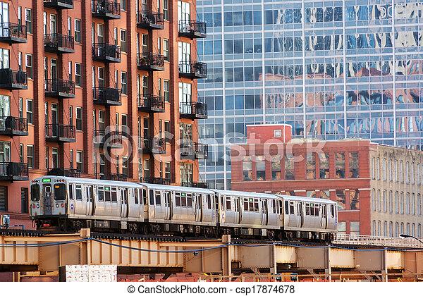 Chicago Elevated Train - csp17874678