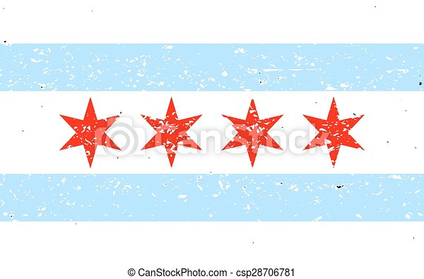Chicago flag - csp28706781