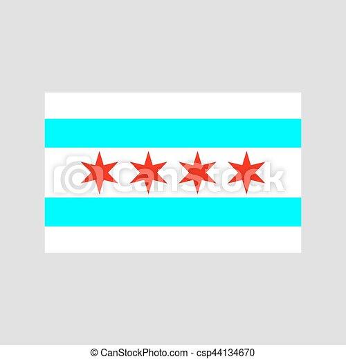 Chicago flag vector - csp44134670