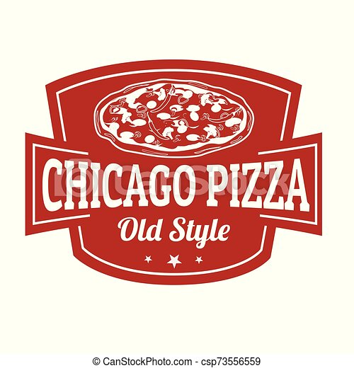 Chicago pizza sign or stamp - csp73556559