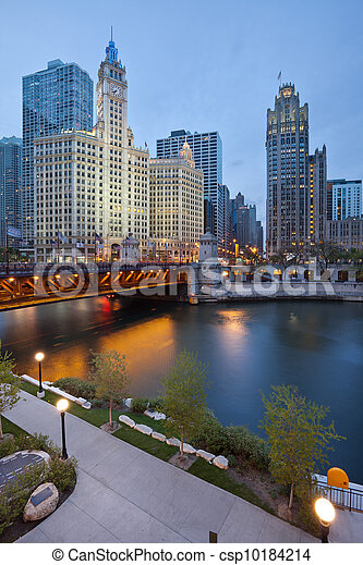 Chicago riverside. - csp10184214