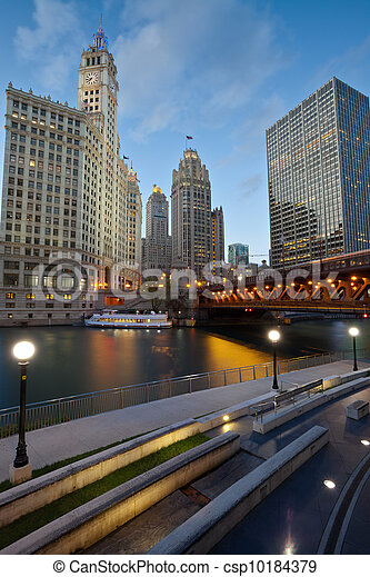 Chicago Riverside. - csp10184379