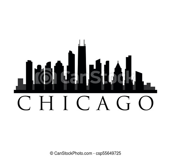 chicago skyline vector illustration search clipart drawings and rh canstockphoto com chicago skyline vector art chicago skyline silhouette vector art free