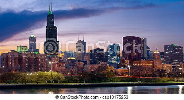 Chicago skyline. - csp10175253