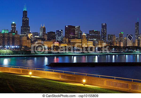 Chicago skyline. - csp10155809