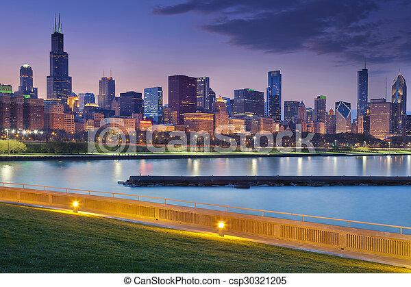 Chicago skyline. - csp30321205