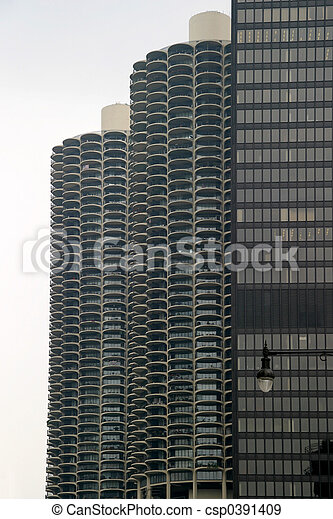Chicago - Skyscrapers with Balconies - csp0391409