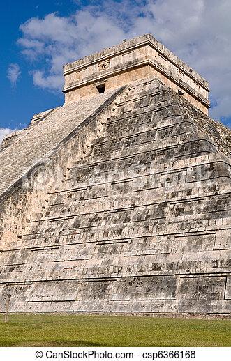 Chichen Itza Mayan Temple in Mexico - csp6366168