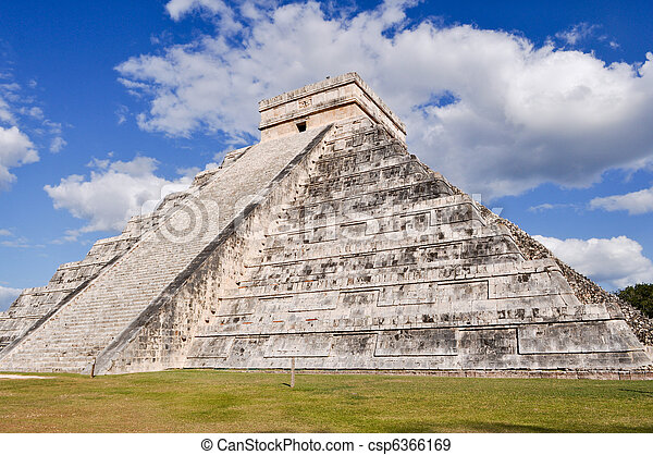 Chichen Itza Mayan Temple in Mexico - csp6366169