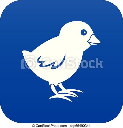 Chick icon digital blue - csp66490344