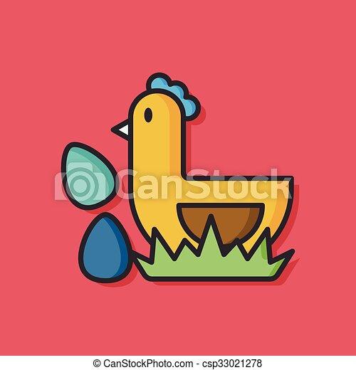 chicken animal vector icon - csp33021278