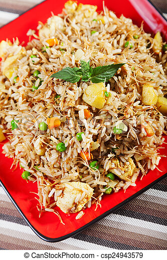 Chicken biryani typical indian food recipe cooked picture search chicken biryani csp24943579 forumfinder Image collections