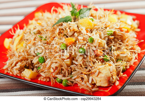 Chicken biryani typical indian food recipe cooked pictures chicken biryani csp29943284 forumfinder Image collections