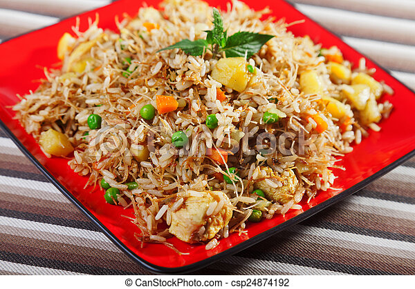 Chicken biryani typical indian food recipe cooked stock chicken biryani csp24874192 forumfinder Image collections