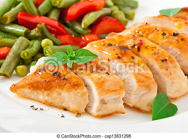 Chicken breast with vegetables - csp13631298