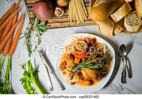 Chicken Cacciatore Hunter's Stew - csp58331460