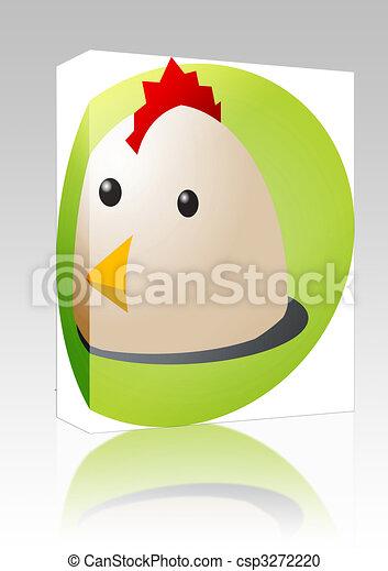 Chicken cartoon box package - csp3272220