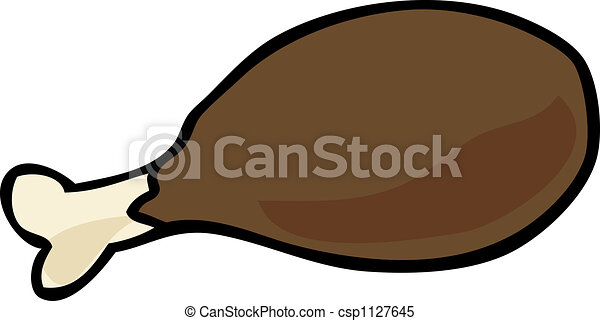 Chicken Drumstick Cartoon Illustration Of A Cooked