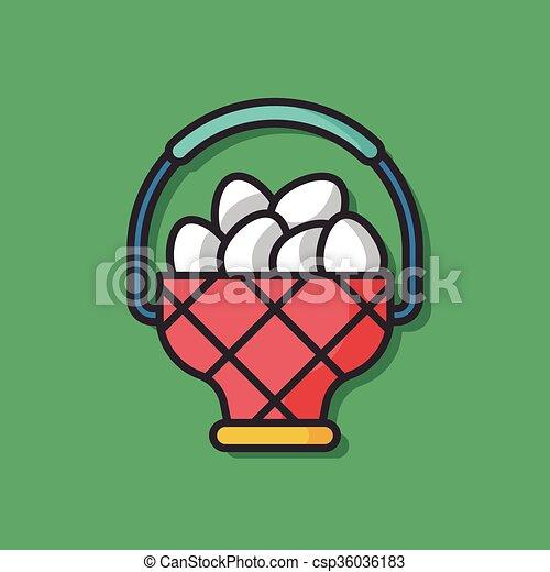 chicken egg vector icon - csp36036183
