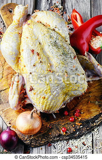 chicken in spices - csp34535415