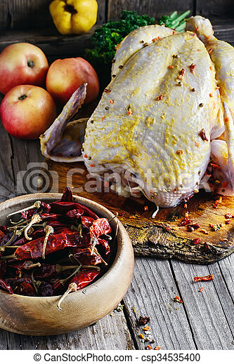 chicken in spices - csp34535400