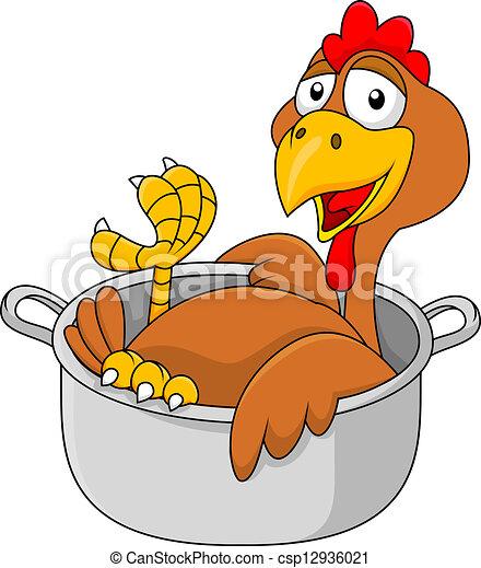Chicken in the saucepan - csp12936021