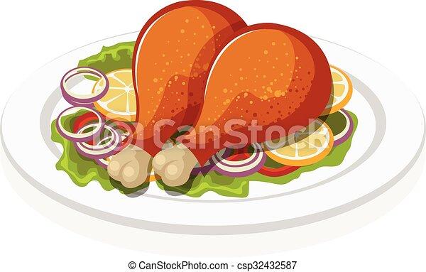 Chicken leg - csp32432587