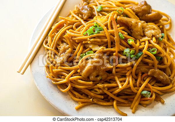 Chicken Lo Mein Chinese Food Tasty Chicken Lo Mein Noodles At