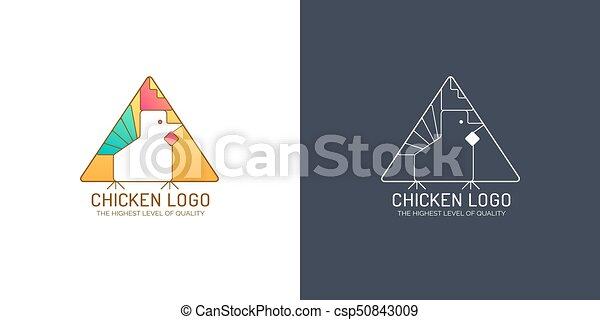 Chicken logo - csp50843009