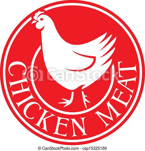 Chicken meat label.