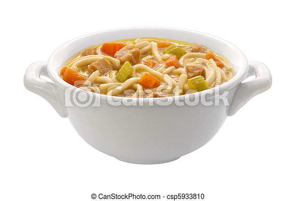 Chicken Noodle Soup (clipping path) - csp5933810
