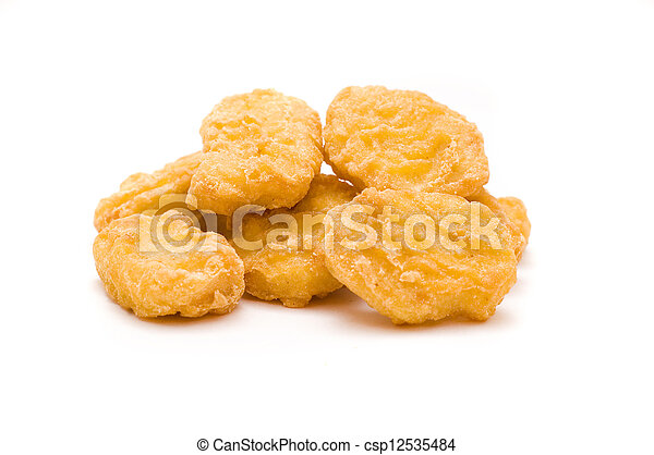 heap of chicken nuggets isolated on white background pictures rh canstockphoto com chicken nuggets and fries clipart chicken nuggets clipart