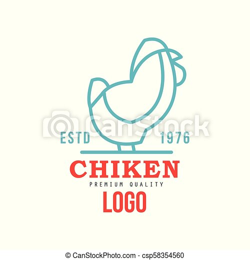 Chicken Premium Quality Logo Estd 1976 Badge Design For Farm