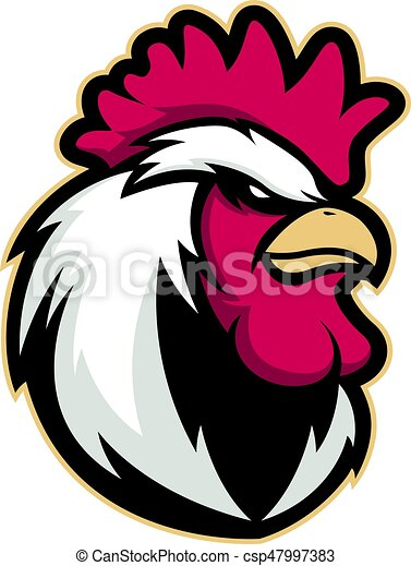Chicken rooster head mascot - csp47997383