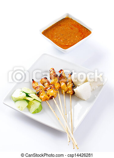 Chicken satay or sate - csp14426281