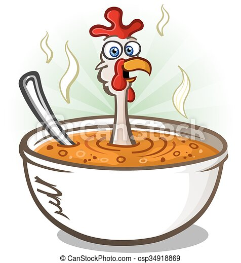 chicken soup cartoon character a hot bowl of chicken soup with a rh canstockphoto com cartoon superpower cartoon superhero colouring