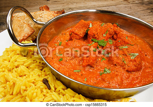 Chicken Tikka Masala In Balti Dish With Rice Chicken Tikka Masala A