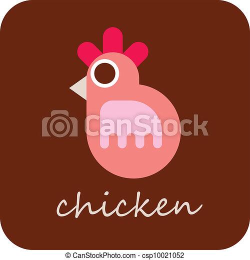Chicken - vector icon - csp10021052
