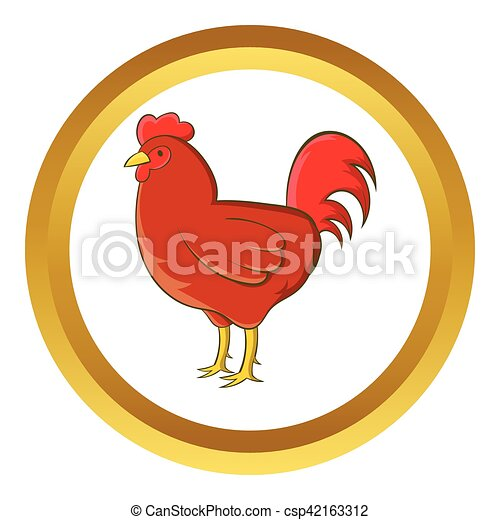 Chicken vector icon - csp42163312