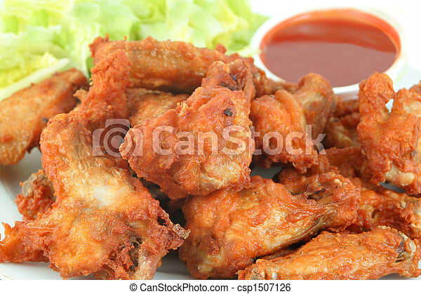 chicken wings and dip - csp1507126