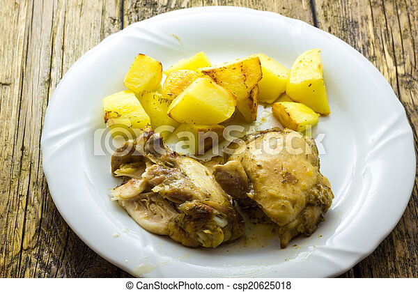 Chicken with potatoes - csp20625018