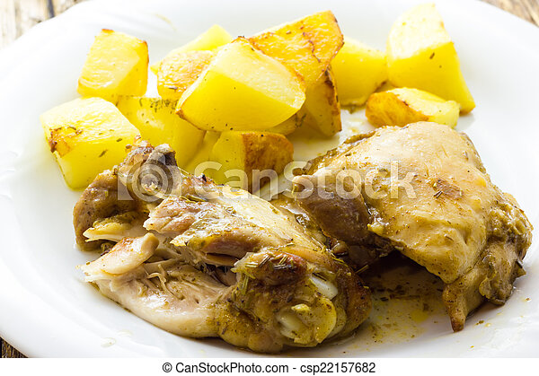 Chicken with potatoes - csp22157682