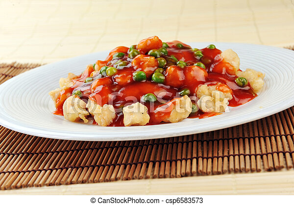 chicken with red sauce - csp6583573