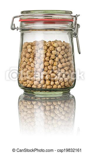 Chickpeas in a jar - csp19832161