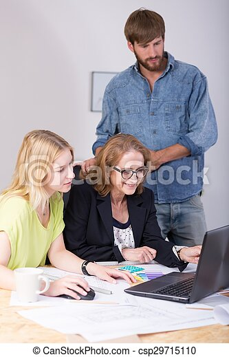 Employees Working Together