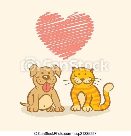 chien, chat - csp21335887