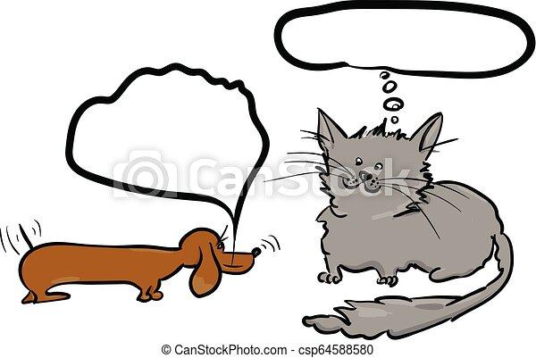 chien, chat - csp64588580